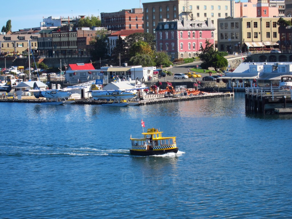water taxi crossing the Inner Harbour