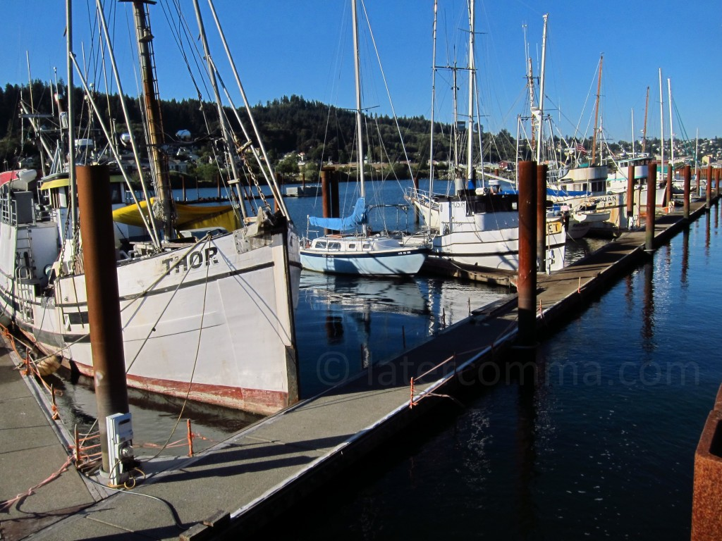 marina at Astoria, Oregon