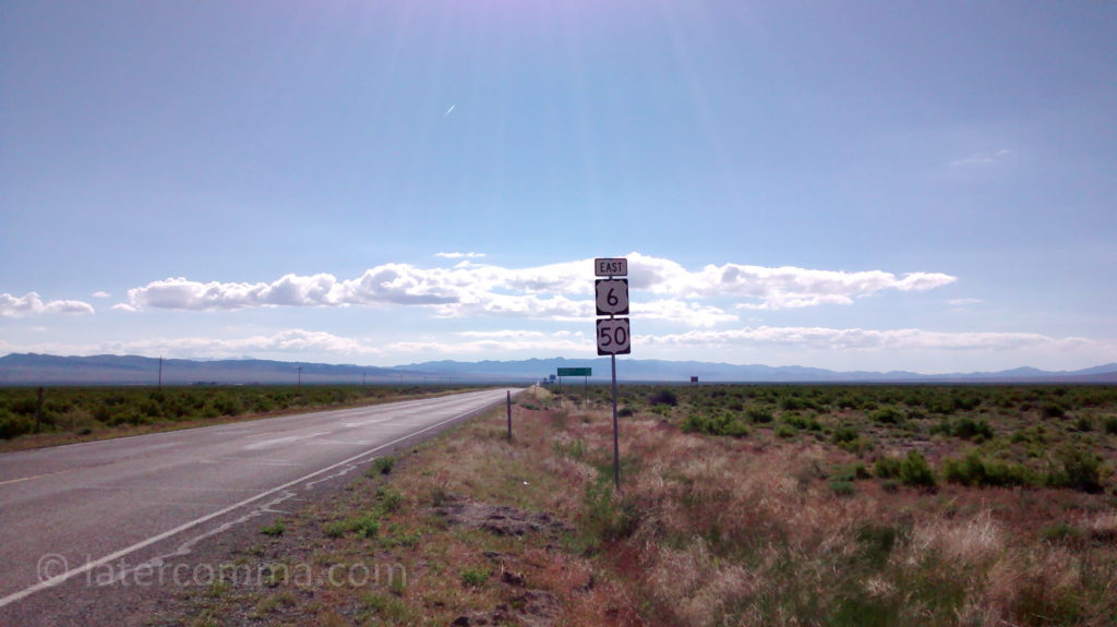 Entering Utah on US 50