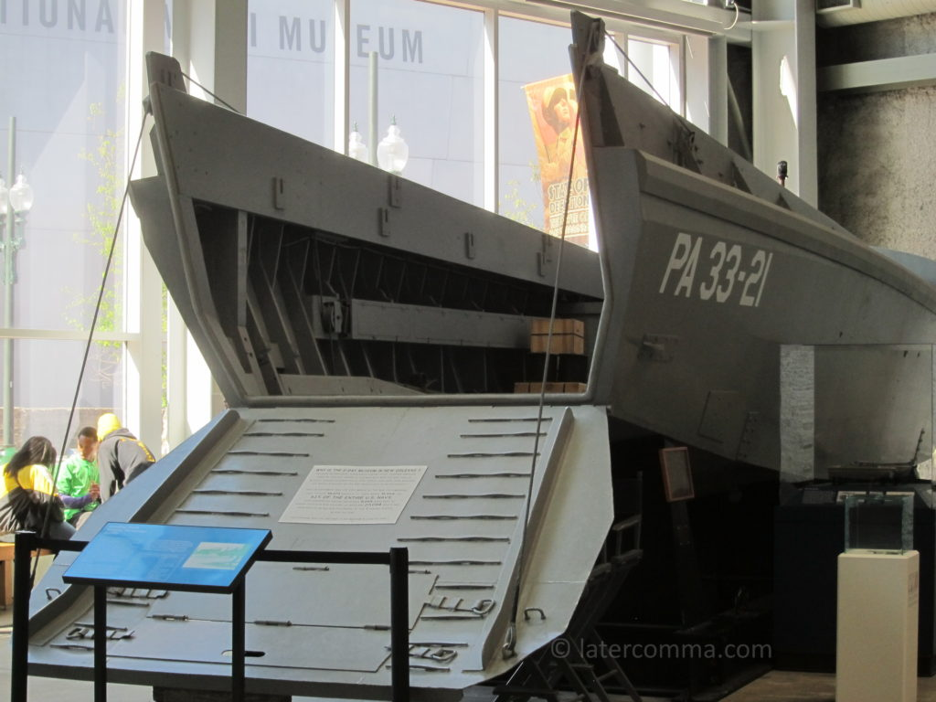 Higgens boat, National World War II Museum.