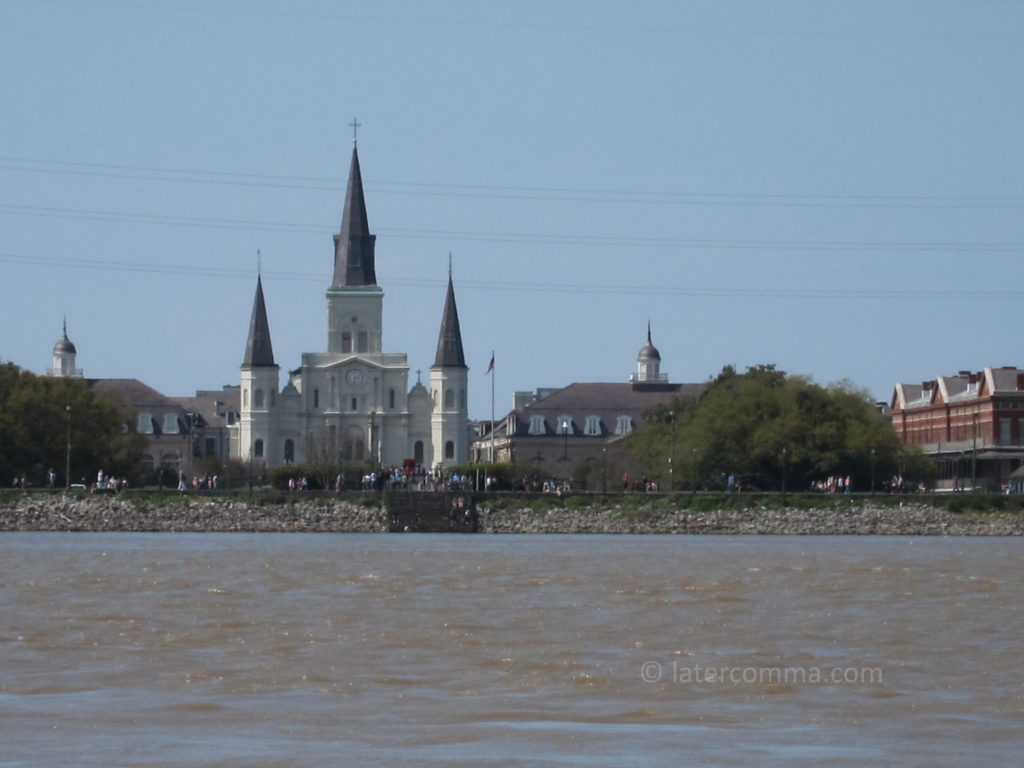 St. Louis Cathedral from the Mississippi.