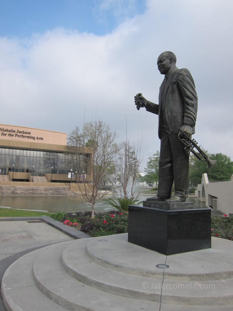 Louis Armstrong sculpture, Louis Armstrong Park.