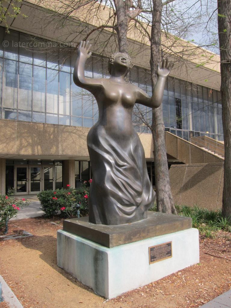 Mahalia Jackson statue, Louis Armstrong Park.